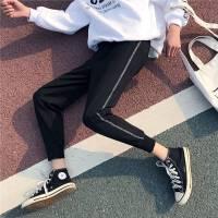 男士休闲裤春季2018新款韩版港风哈伦小脚长裤9分潮流束脚运动裤