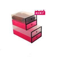 星空夏日 靴子收纳盒 透明鞋盒短靴白色