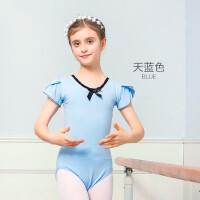 儿童舞蹈服女童练功服短袖芭蕾舞跳舞衣服幼儿形体服