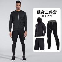 长袖健身套装男装跑步运动服透气宽松健身房保暖速干衣