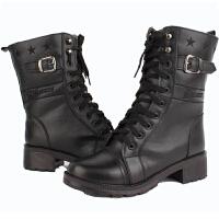 A54女式军靴T72 军靴保暖女靴 靴马丁靴工装靴机车靴骑士靴单靴短靴