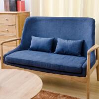 北欧实木沙发白橡木沙发组合小户型家具日式双人沙发休闲促销