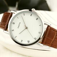 韩版时尚潮流手表女学生简约休闲大气石英表皮带情侣手表