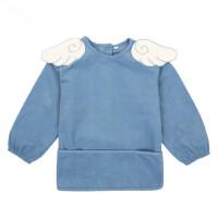 儿童罩衣女童长袖防水画画衣婴幼儿反穿衣宝宝围裙围兜