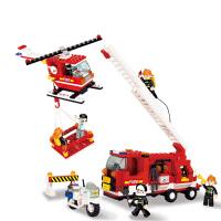 【当当自营】小鲁班模拟城市系列儿童益智拼装积木玩具 119消防中心-消防局M38-B3100