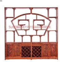 博古架实木新中式仿古家具榆木多宝阁玄关古董茶室茶叶展示柜书架 1米以下