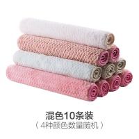 可水洗懒人�{布 珊瑚绒洗碗布不掉毛加厚抹布10条装家用厨房擦手巾吸水毛巾