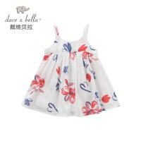 戴维贝拉女童夏季新款连衣裙 女宝连衣裙 吊带裙DB4487