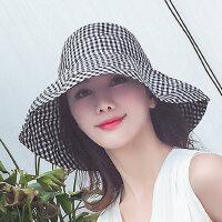 太阳帽可折叠大帽檐盆帽帽子女韩版潮百搭休闲出游遮阳防晒帽