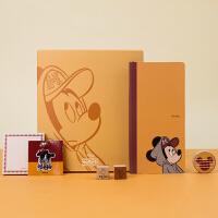 kinbor×迪士尼 效率周计划套装礼盒week便携本随身笔记本子 运动米奇(周计划+便签本+刺绣贴+印章+胶带)DT