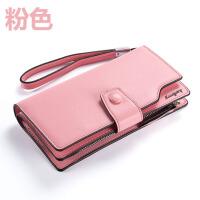 搭扣女士长款钱包拉链手包 欧美时尚女式软皮钱夹大容量手机包潮