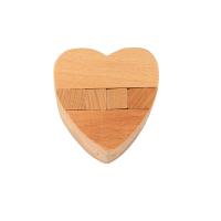 木制解锁玩具心形机关 榉木大菠萝心锁 孔明锁