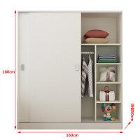 20190617053203279衣柜简约现代经济型组装实木板式衣橱家用简易木质推拉门 2门