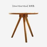 现代简约实木沙发边几家用客厅原木日式设计师家具北欧橡木圆茶几