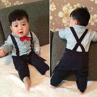 婴儿连体衣服棉宝宝新生儿哈衣3长袖春装冬季睡衣1岁新年