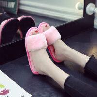 家居棉拖鞋女室内厚底防滑居家用韩版软底静音拖鞋时尚