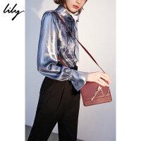 Lily春新款女装小巧通勤精致配件单肩包斜挎包118320BZ424