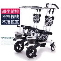 儿童双人三轮车脚踏车轻便双座自行车宝宝溜娃神器双胞胎婴儿推车