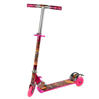 铠甲勇士滑板车踏板儿童闪光轮可折叠调节尺寸 KJ-281滑板车