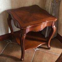 家具 欧式角几实木边几小边桌方几美式客厅电话桌沙发边柜
