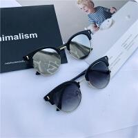 儿童防紫外线太阳镜小孩墨镜宝宝百搭眼镜男女童遮阳镜潮