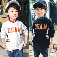 儿童男童卫衣2018春季新款童装韩版长袖运动套头圆领打底衫F114 J