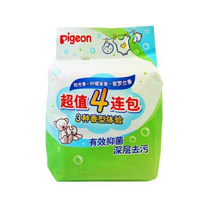 贝亲Pigeon婴儿抗菌洗衣皂120G 4连包/新老包装替换贝亲 正品保证 超值优惠 欢迎选购
