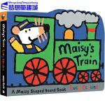 Maisy's Train 小鼠波波系列 英文原版绘本 Lucy Cousins 火车 交通工具车子造型低幼启蒙纸板童