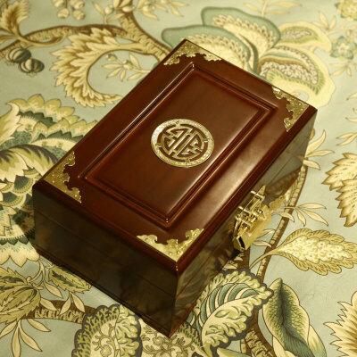 七夕礼物香樟木箱高档实木首饰盒木质带锁饰品盒复古收纳盒小箱子