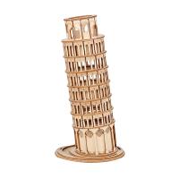 若态3D立体拼图手工DIY拼装模型玩具招财猫凯旋门摩天轮益智玩具