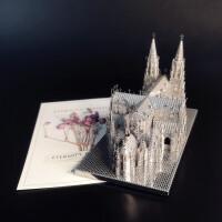 3D金属拼装模型 圣帕特里克大教堂 拼图原型玩具DIY手工汽车摆件