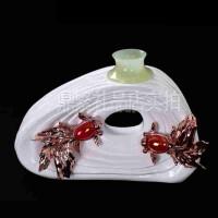 现代简约客厅家饰家居摆件 创意年年有余花瓶装饰礼品