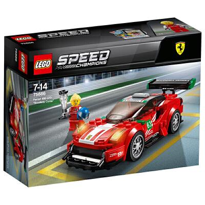【当当自营】乐高(LEGO)积木 超级赛车系列 玩具礼物7-14岁 法拉利488GT3 75886 【实力宠粉 乐享好价】超级赛车系列,与法拉利赛车携手,赢得冠军!