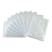齐心F118 资料袋 A4**袋 资料票据收纳袋 防水透明文件袋