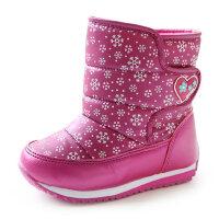儿童雪地靴男童女童短靴大童户外运动防水加绒女宝宝靴子