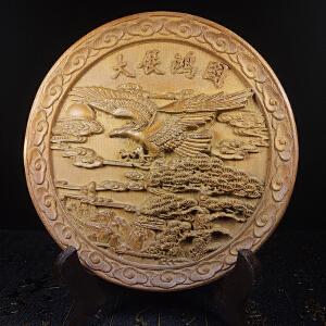 黄杨木雕刻 大展鸿图