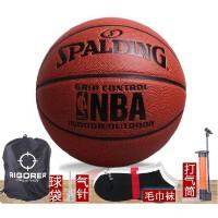 NBA斯伯丁篮球 水泥地耐磨室外室内7号比赛球 掌控74-221
