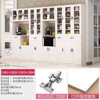 餐边柜客厅储物柜简约现代收纳碗柜多功能酒柜北欧式家用餐厅橱柜 ++ 6门以上