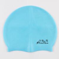 游泳帽防水舒适男女士儿童子纯色游泳帽装备