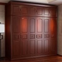 实木衣柜 五门/六门/四门 平开门 新中式木制大衣橱 农村卧室家具