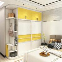全屋定制家具衣帽间整体衣柜定制定做卧室现代简约实木多层板主卧 整装