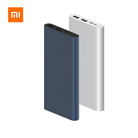 XiaoMi小米移动电源3充电宝10000mAh毫安快充版便携超薄 银色