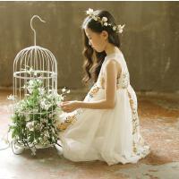 女童公主裙夏礼服背心连衣裙女宝宝表演蓬蓬裙