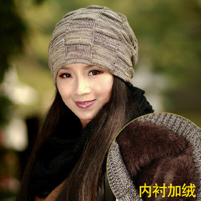 帽子女韩版潮英伦百搭简约保暖 针织毛线帽