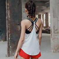 夏季新款美背无袖瑜伽上衣运动背心女长款宽松透气罩衫健身服薄