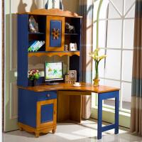 橡木电脑桌学生桌书房家具地中海北欧家具实木转角书桌