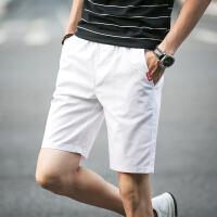 夏季休闲短裤男士棉麻中裤夏天五分裤宽松大码运动沙滩裤潮男裤子