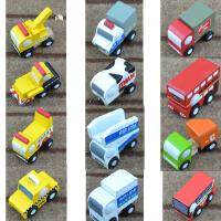 日单迷你儿童汽车模型组合和风系列小车儿童益智力木制质玩具2代