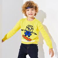 【2件3折到手价:81】小猪班纳童装男童毛衣冬装新款儿童卡通毛线衫纯棉