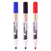 得力文具白板笔得力6801白板笔使用笔水性白板笔红蓝黑3色可选